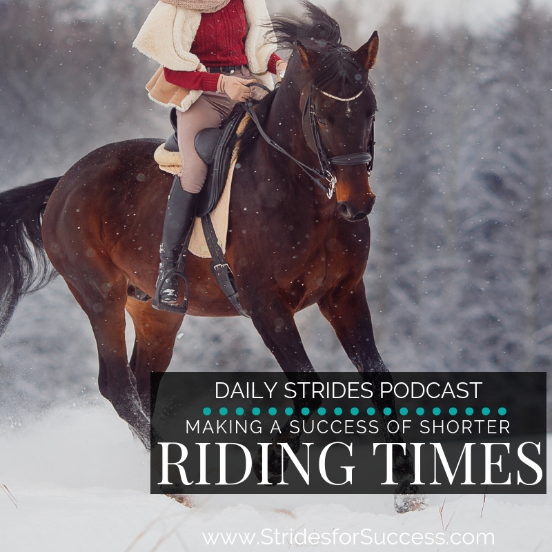 Making a Success with Shorter Riding Times