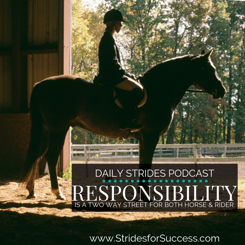 Responsibility is a Two Way Street for Horse & Rider